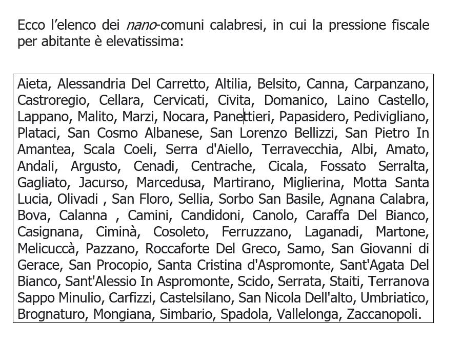 I tributi locali nei piccoli comuni italiani sono troppo elevati